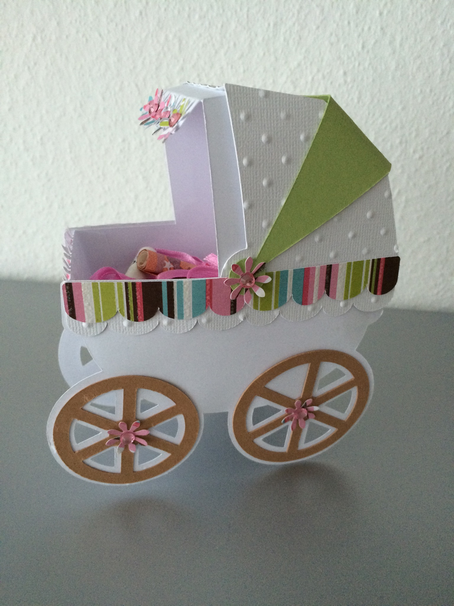geldgeschenk taufe kinderwagen in 3d butterflycards. Black Bedroom Furniture Sets. Home Design Ideas