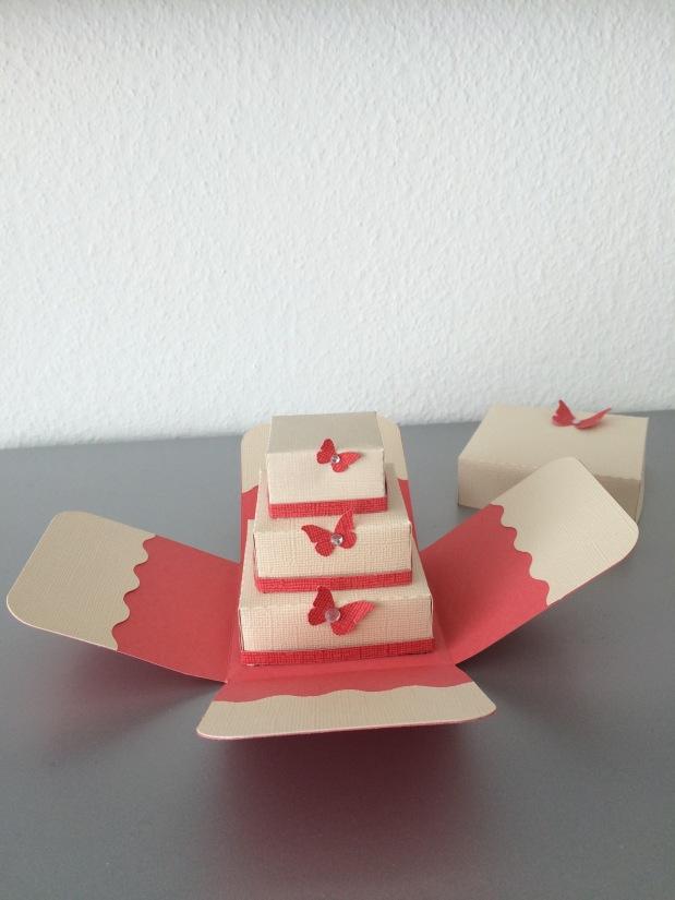 Exploding Box / Gedgeschenk Hochzeit 3DTorte