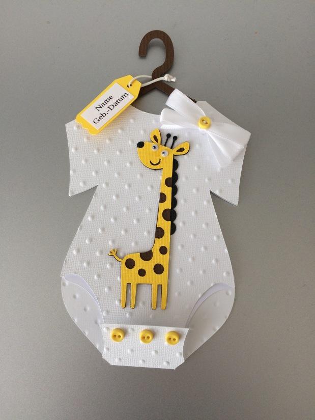 Karte Geburt Junge / Mädchen*Giraffe*
