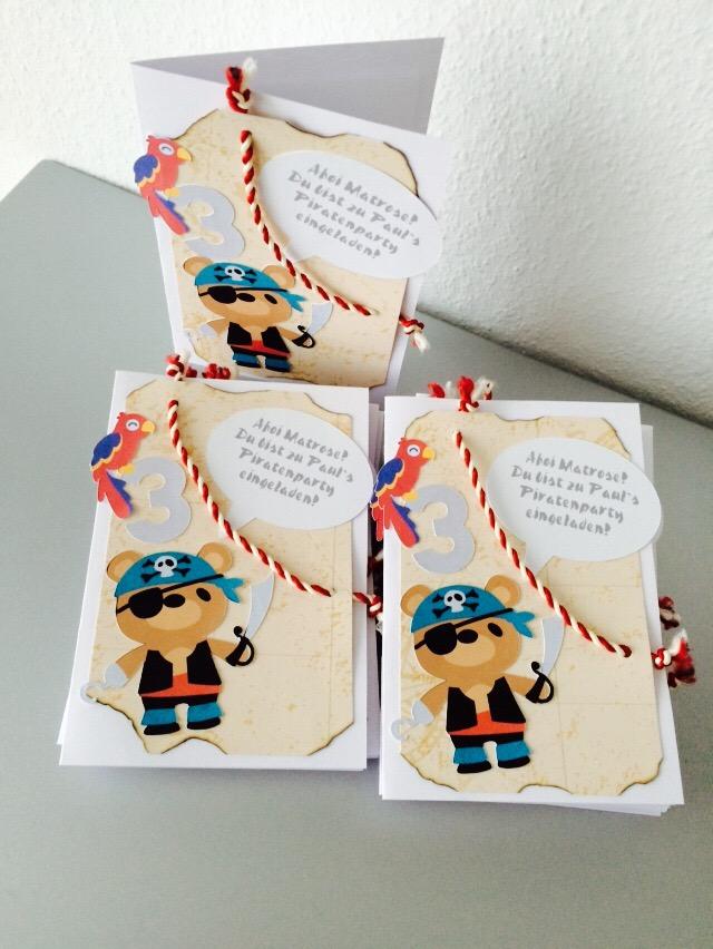 Einladung Geburtstag Junge / Piraten Party