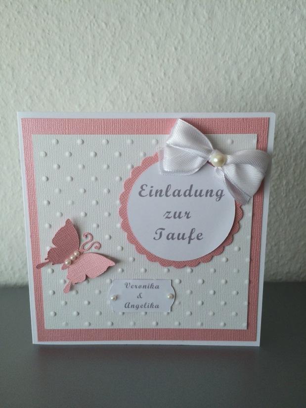 Einladung zur Taufe Mädchen*rosa*