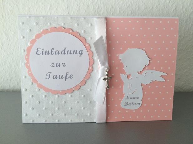 Einladung Taufe Mädchen rosa*Pünktchen*