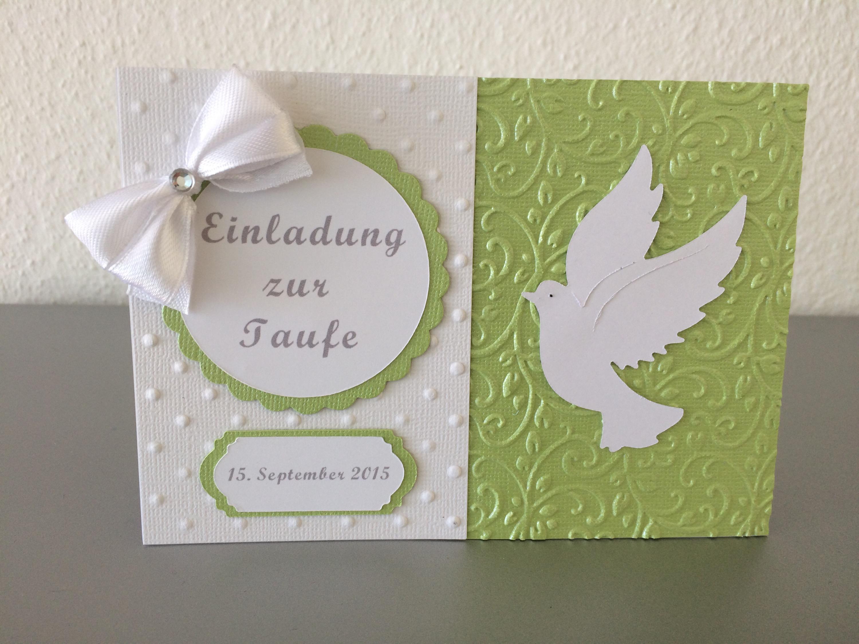 Einladung Taufe Junge / Mädchen *grün*