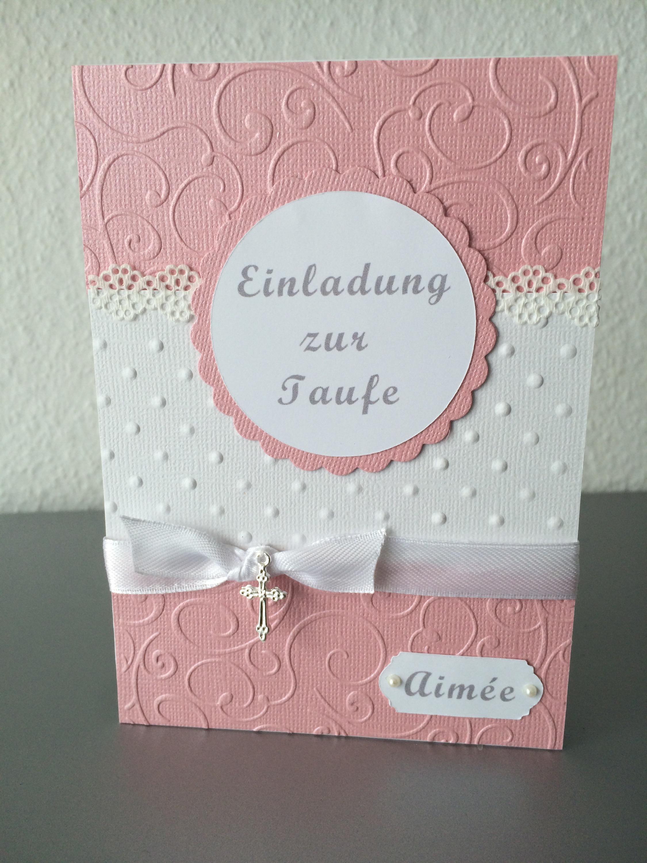 einladung zur taufe mädchen *rosa* – butterflycards, Einladungsentwurf