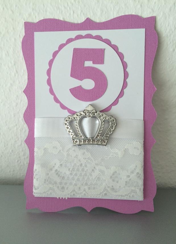Karte Geburtstag / Einladung Mädchen Prinzessin*lila*