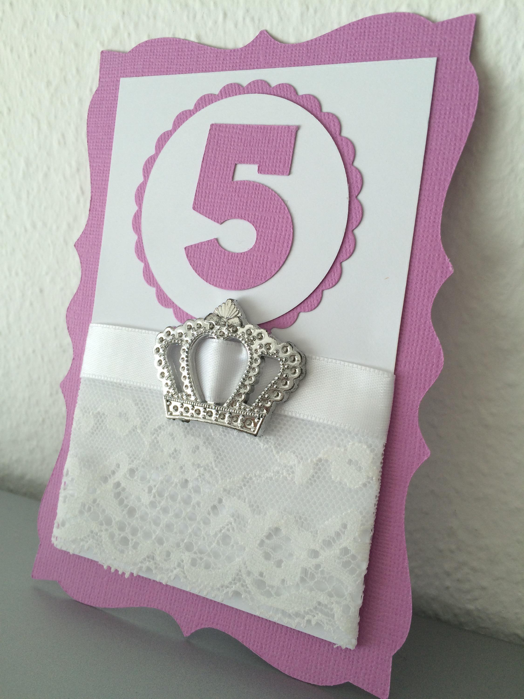 Karte Geburtstag / Einladung Mädchen Prinzessin *lila*