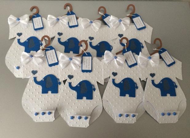 Einladung Taufe Junge Elefant