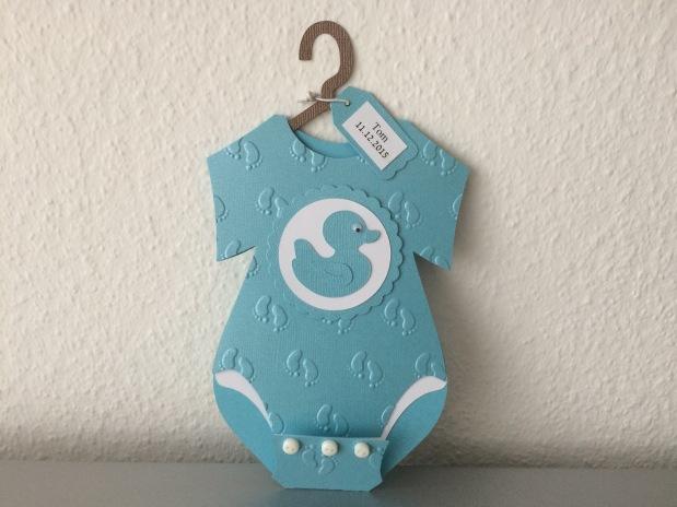 Karte Baby Geburt / EinladungTaufe