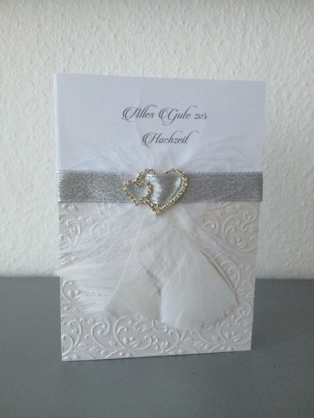 Karte zur Hochzeit / Einladung