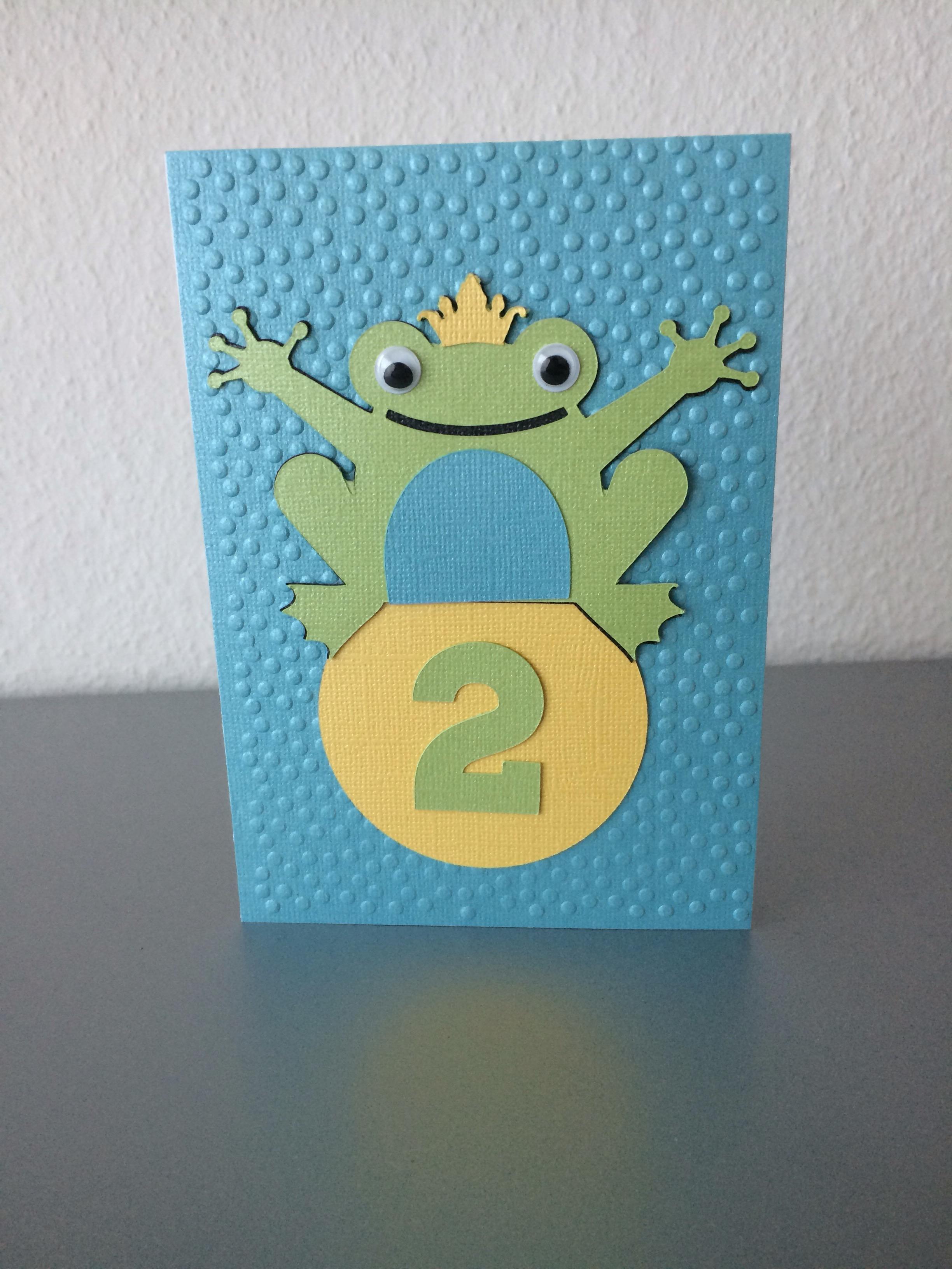 Karte Zum Geburtstag / Einladung Zum Kindergeburtstag. Ich Fand Den Frosch  Einfach Nur Zu Süß Und Die Farben Machen Einfach Gute Laune.