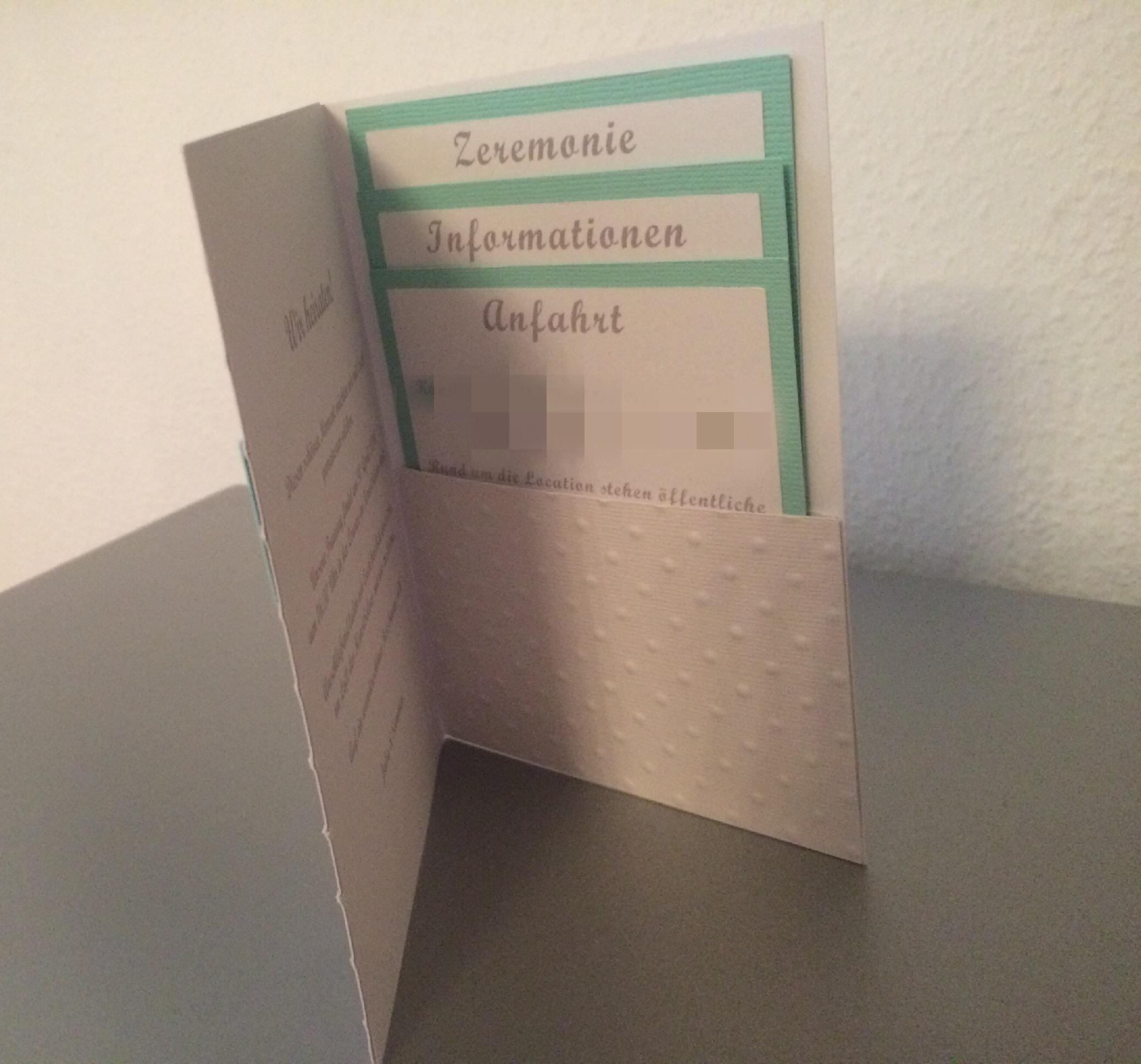 Schön Einladung Zur Hochzeit In Einer Wunderschönen Farbe Und Mit Pocketfolder ( Einsteckkarten) Für Alle Wichtigen Informationen.