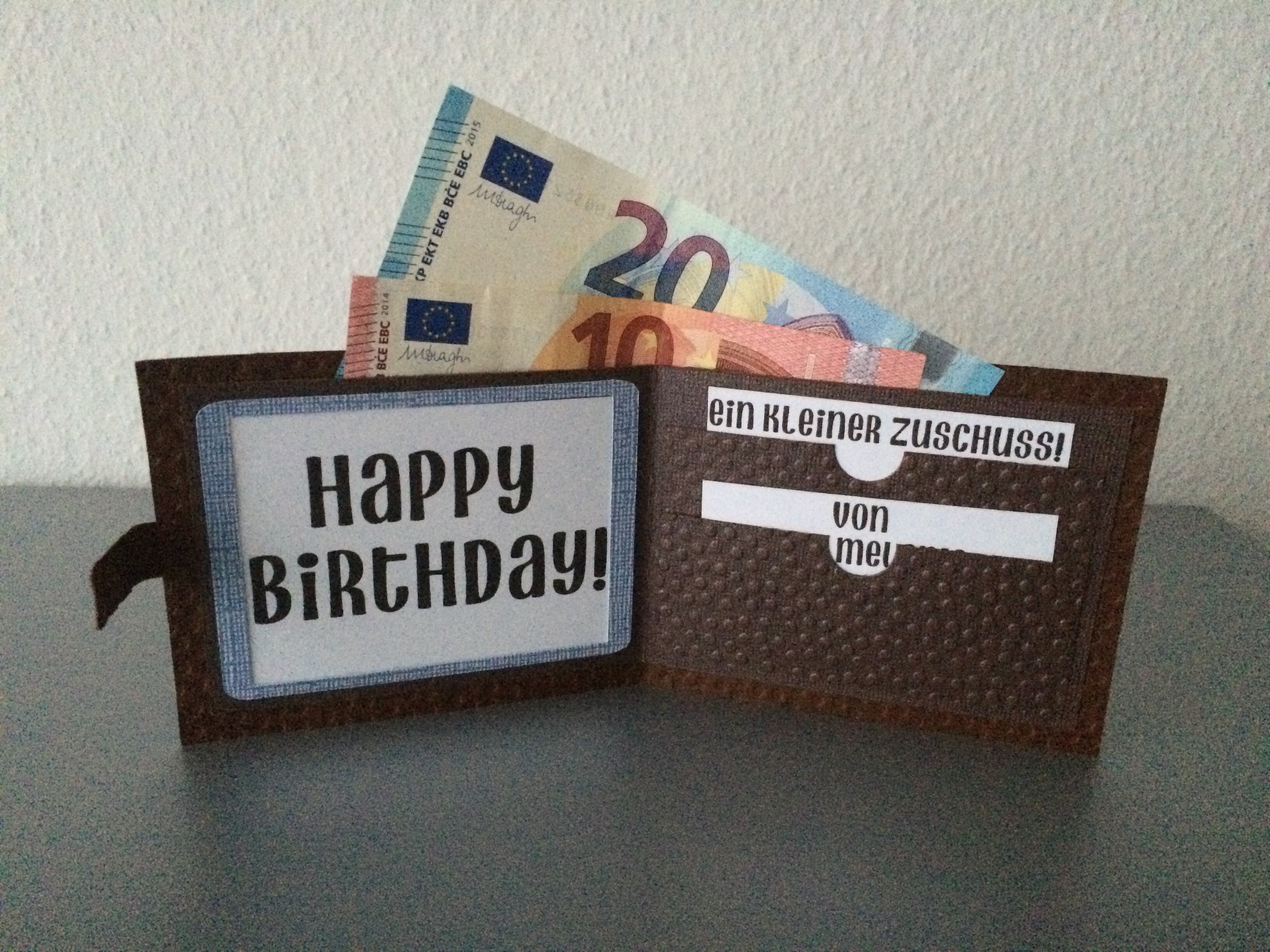 Geldgeschenk Geburtstag Mann Butterflycards