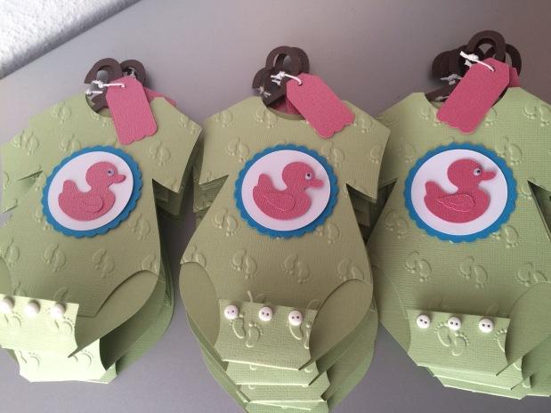 Baby Body Karte Mädchen für Babyparty / Babyshower