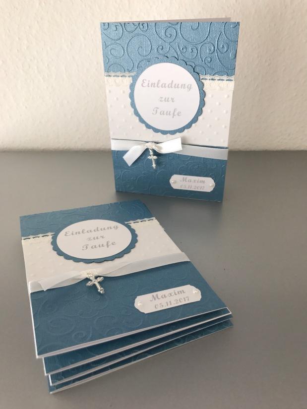 Einladung zur Taufe*blau*