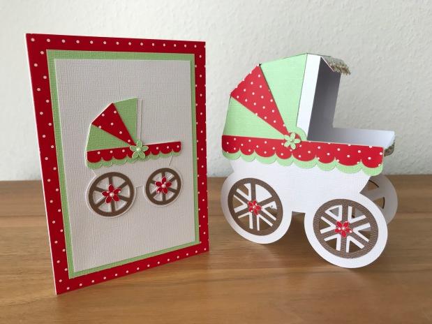 Kinderwagen 3 D undKarte