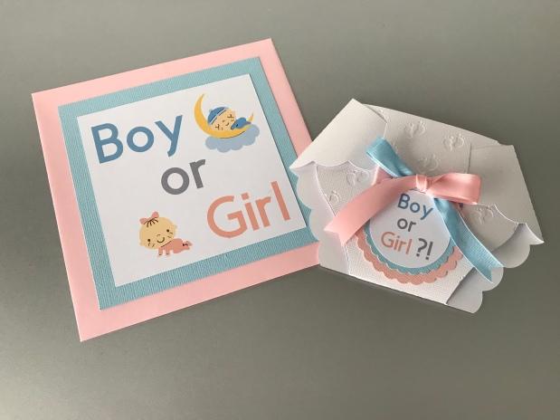 Gender reveal Party – Mädchen oder Junge?! WindelKarte