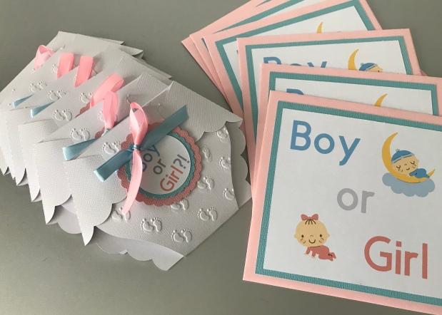 Mädchen oder Junge?! Gender reveal Party / Schwangerschaftsankündigung