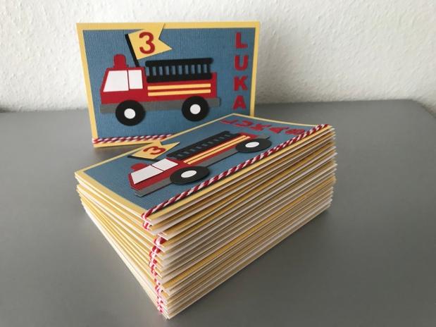 Einladung zum Kindergeburtstag *Feuerwehr*