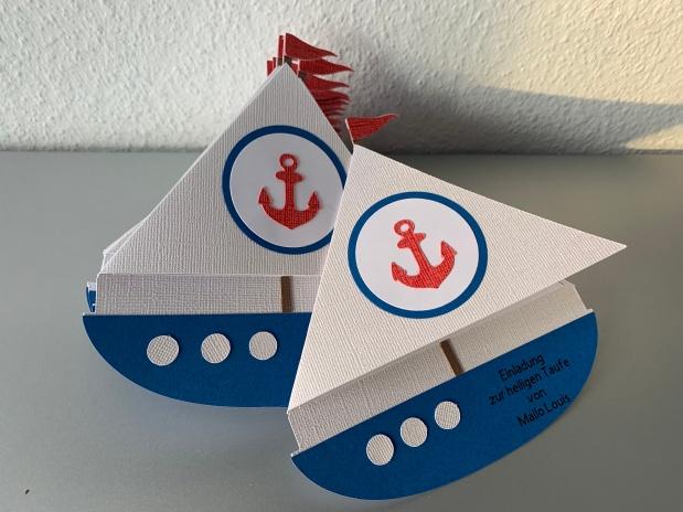 Einladung Taufe Schiff /Boot