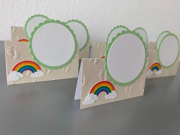 Taufe Regenbogen *Tischkarten /Menükarten*